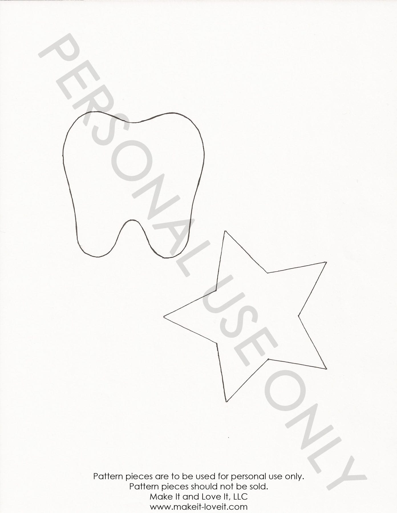 tooth star template | Make It and Love It