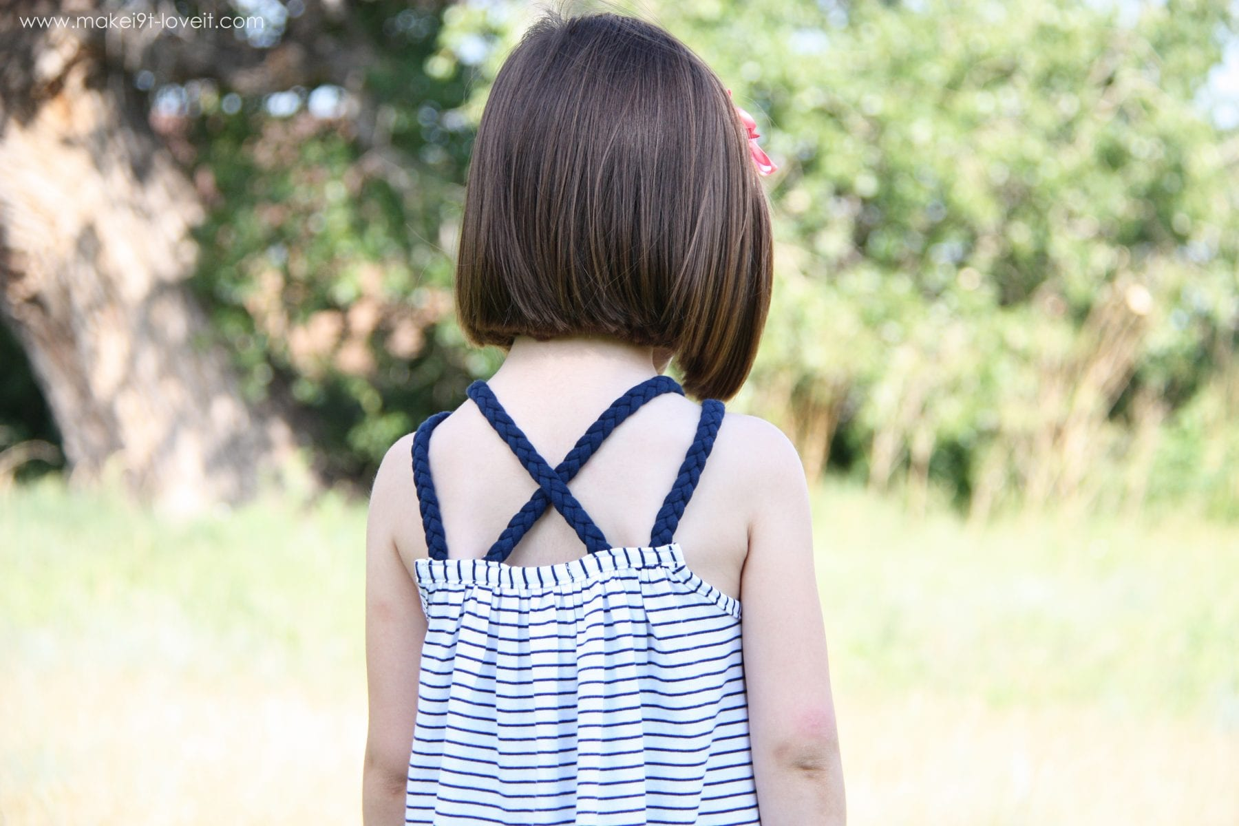 Re-purposing: Tshirt into Dress (or Top) with Braided Straps