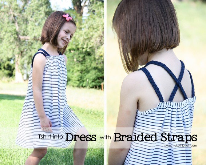 how to make a dress from at shirt without sewing