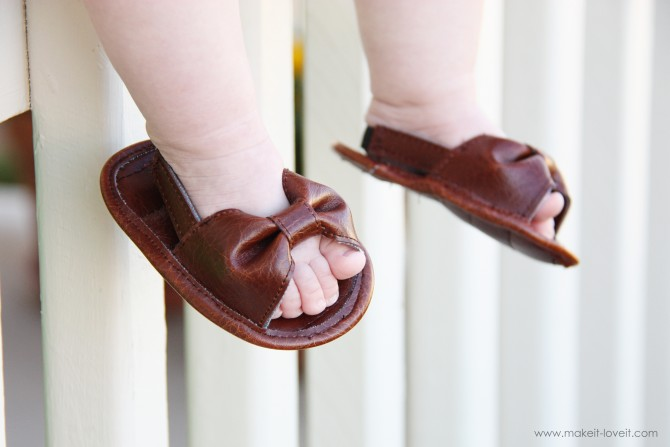 Baby Girl Sandals from Leather