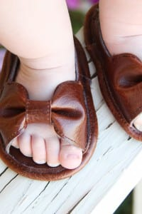 Baby Girl Sandals (made with faux leather)