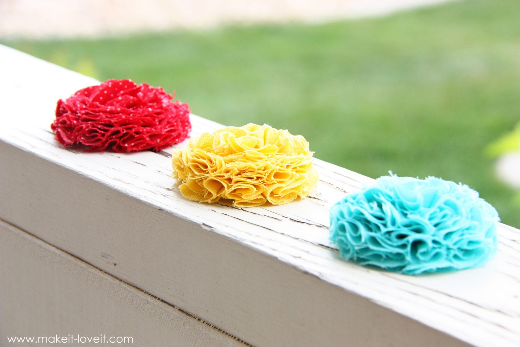 Full and Textured Fabric Flowers
