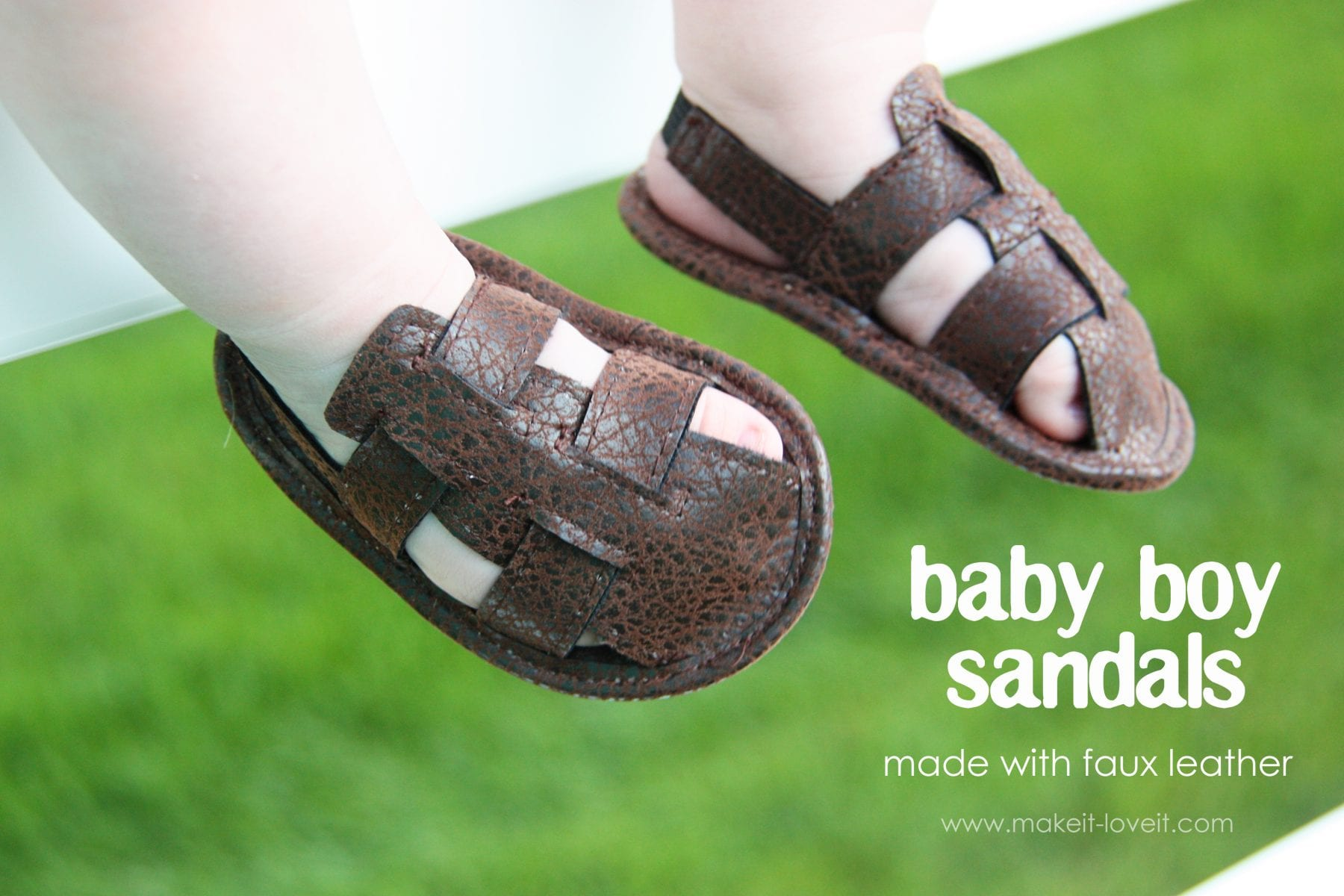 Baby BOY sandals (made with faux leather)