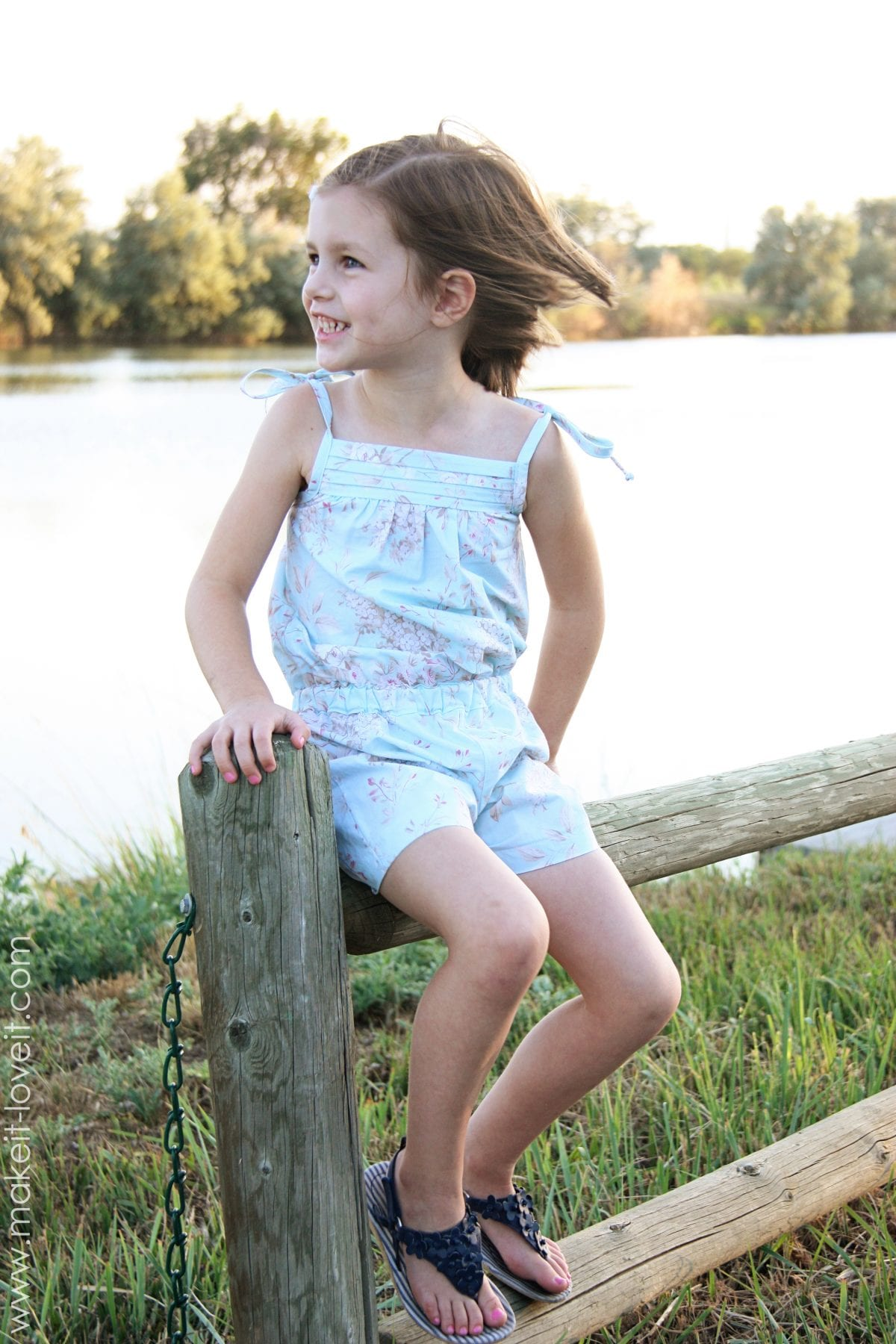 Little girl romper what would you make challenge make it and love it - Garls perpact ...