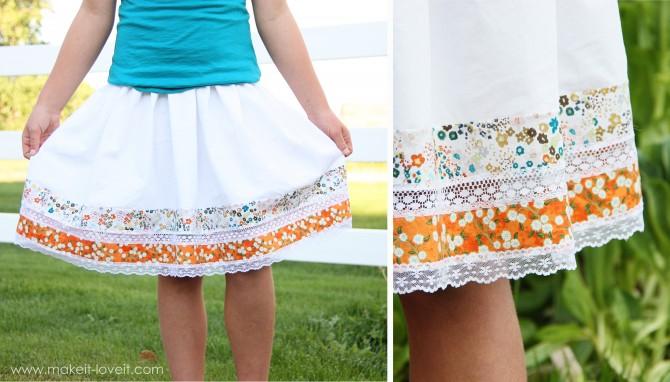 Как украсить юбку своими руками фото
