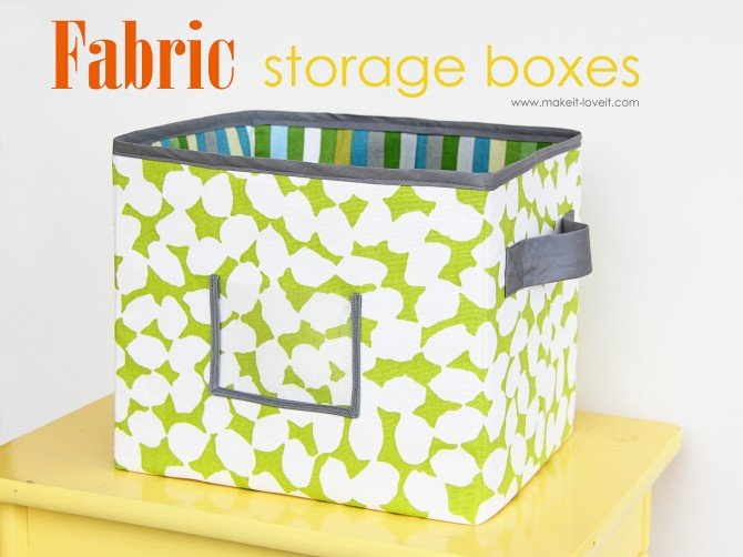 DIY Fabric Storage Boxes - How to Make (Per Your Request)