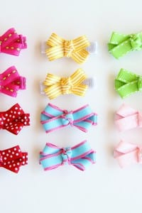 Simple Bow Hair Clips (with no-slip grip)