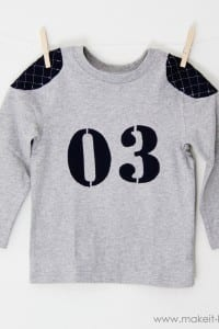 Little Boy Football Tshirt (with mock shoulder pads)