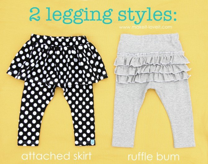 ruffled leggings tutorial