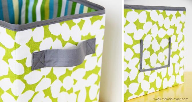 Текстильные коробки для хранения вещей своими руками
