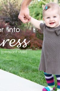 Old Sweater into Short Sleeve Dress (peasant style)