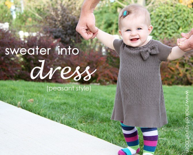 Make A Sweater Into A Dress 114