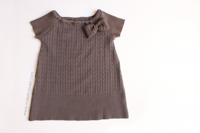 Tuto recycle old sweat to baby dress/ Recyclage vieux pull en robe de petite fille