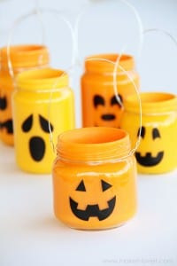 Pumpkin Jars: Add treats, candles, or nothing at all...