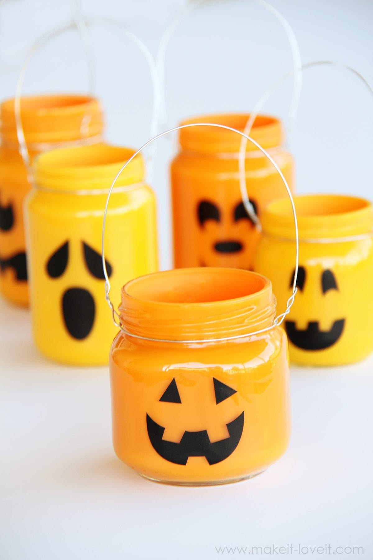 Pumpkin Jars: Add treats, candles, or nothing at all…