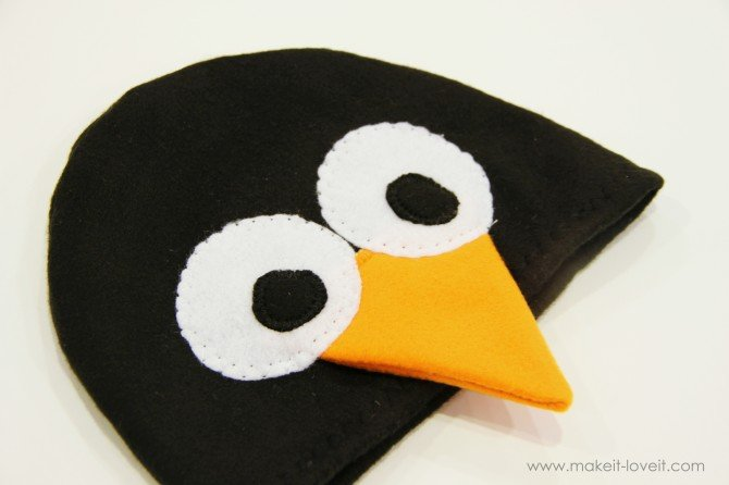 Шапочка пингвина своими руками из картона