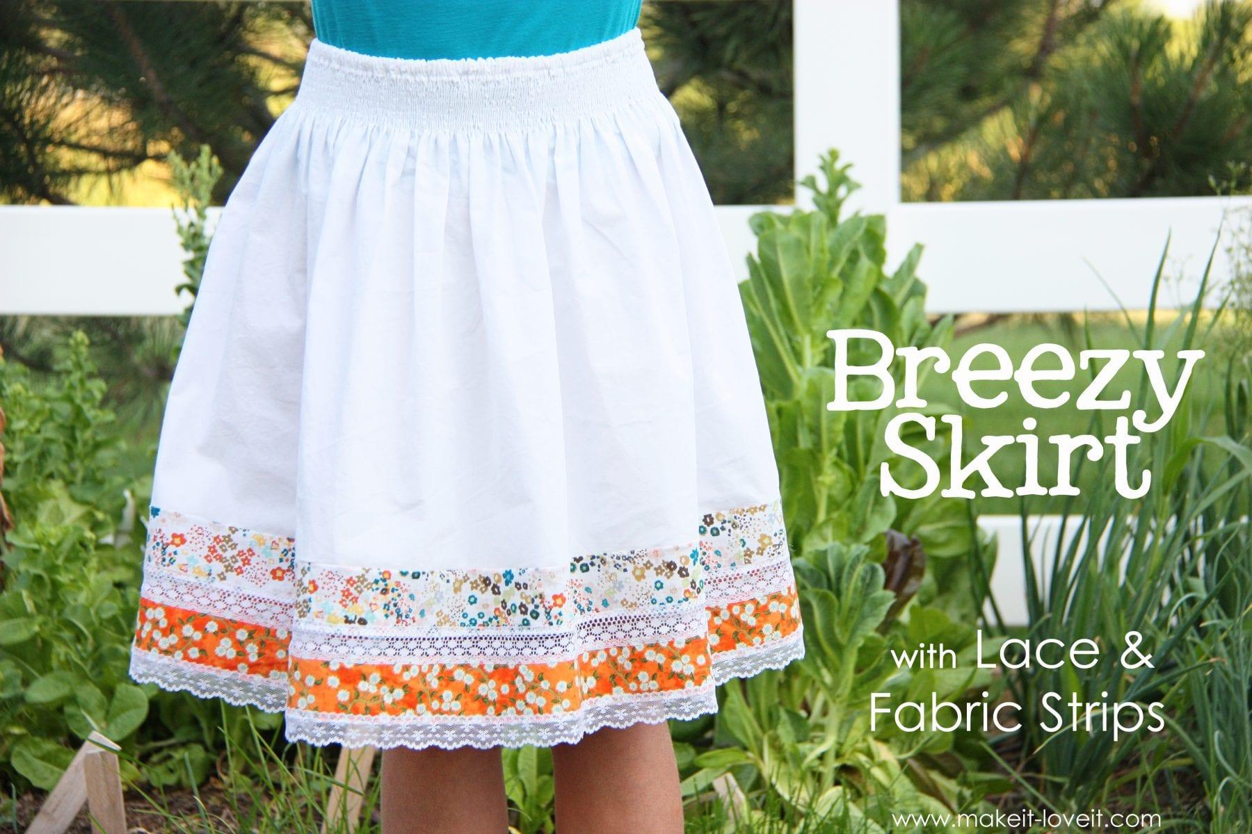 Как украсить летнюю юбку