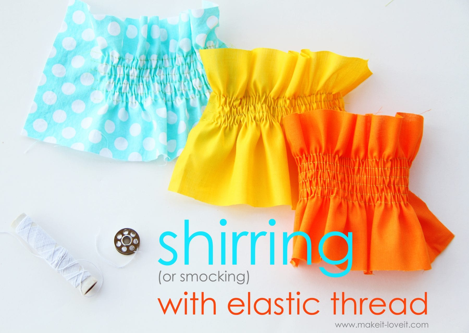 Sewing Tip: Shirring/Smocking with Elastic Thread
