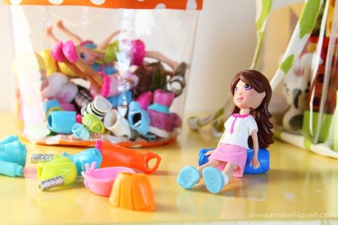 прозрачный мешок для игрушек