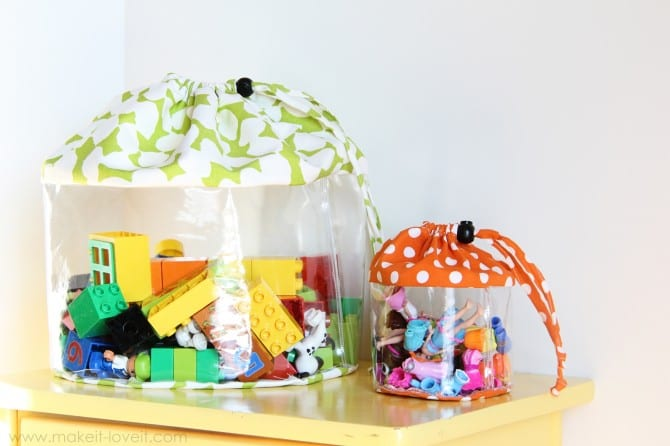 Clear Toy Storage Bags (with drawstring closure) | Make It and Love It