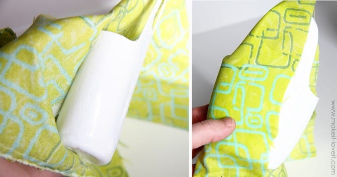 wrap bottle 670x353 Holder for Charging Cell Phone (made from lotion bottle)