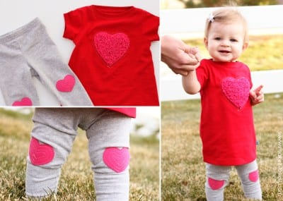 heart dress and leggings