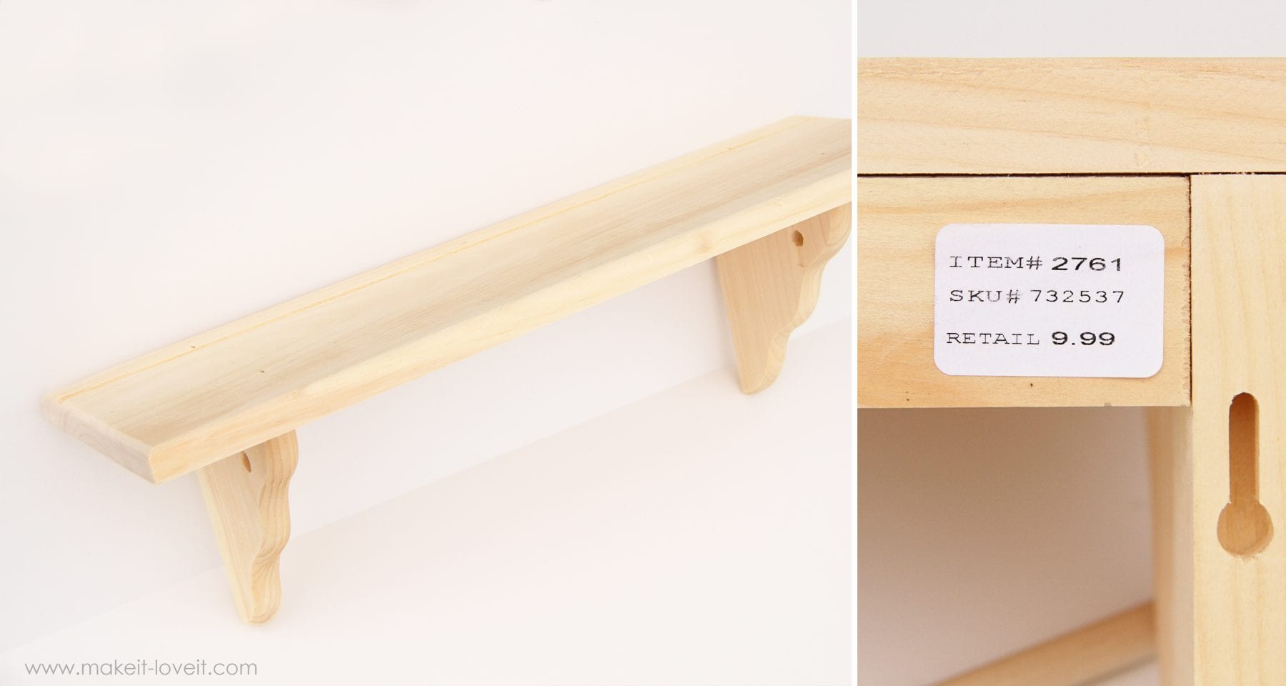 wood shelf | Make It and Love It