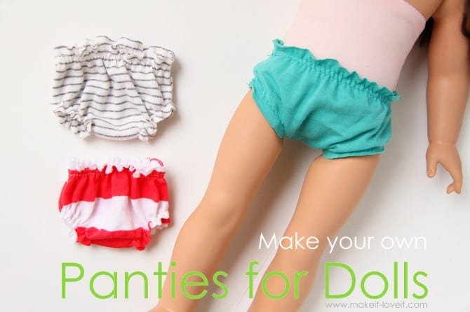 And make some little Dolly Panties . In 3 different colors.