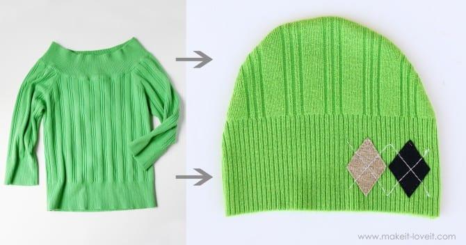 Что сделать из старого свитера своими руками мастер класс