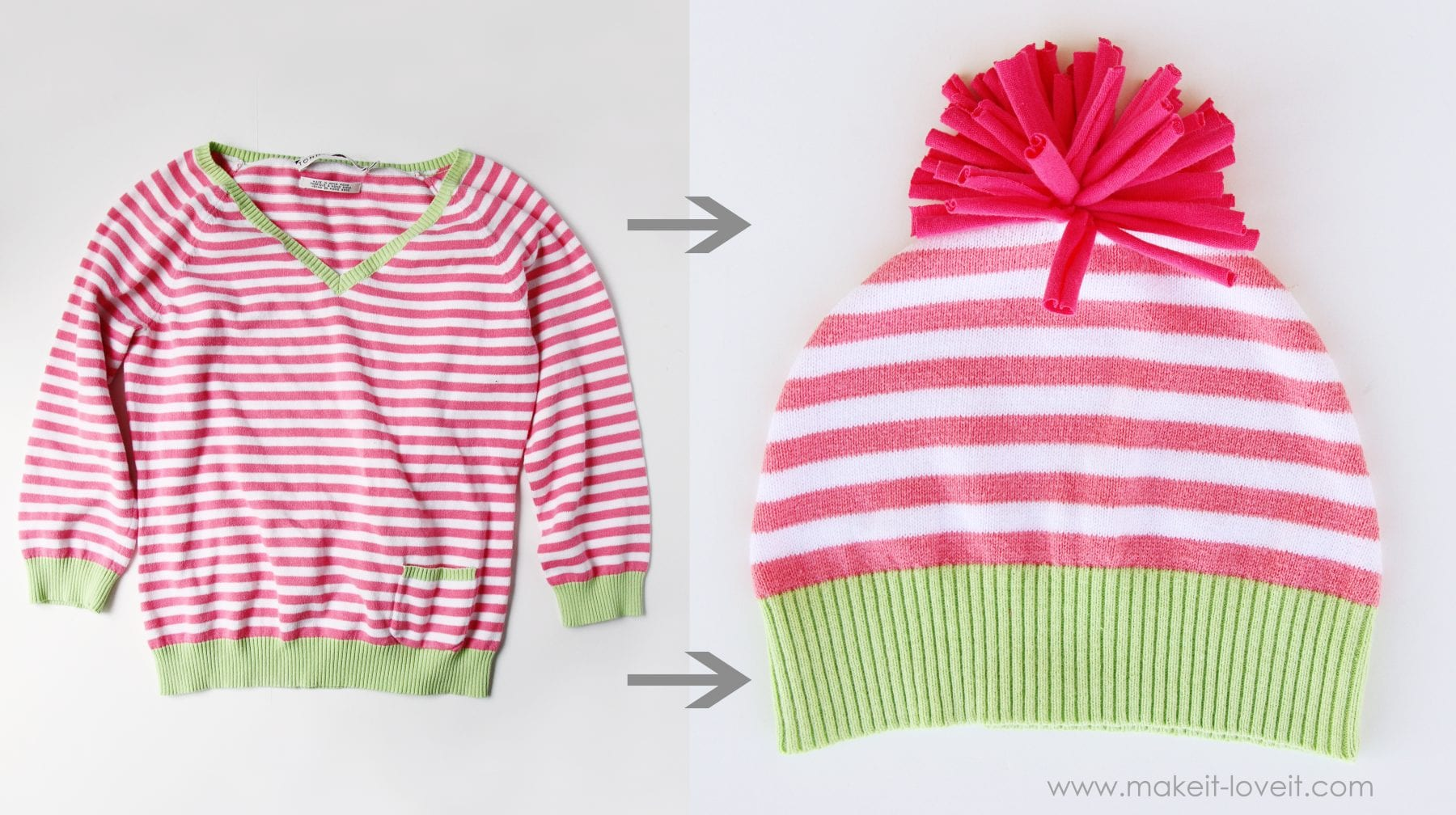 stripe sweater hat
