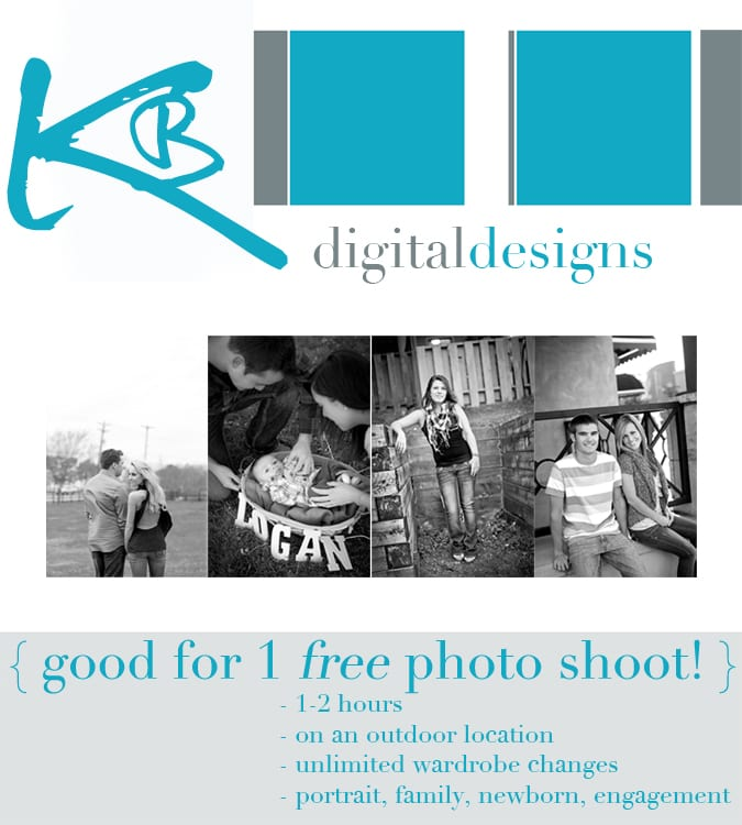 One Free Photography Session: with Katie of KB Digital Designs