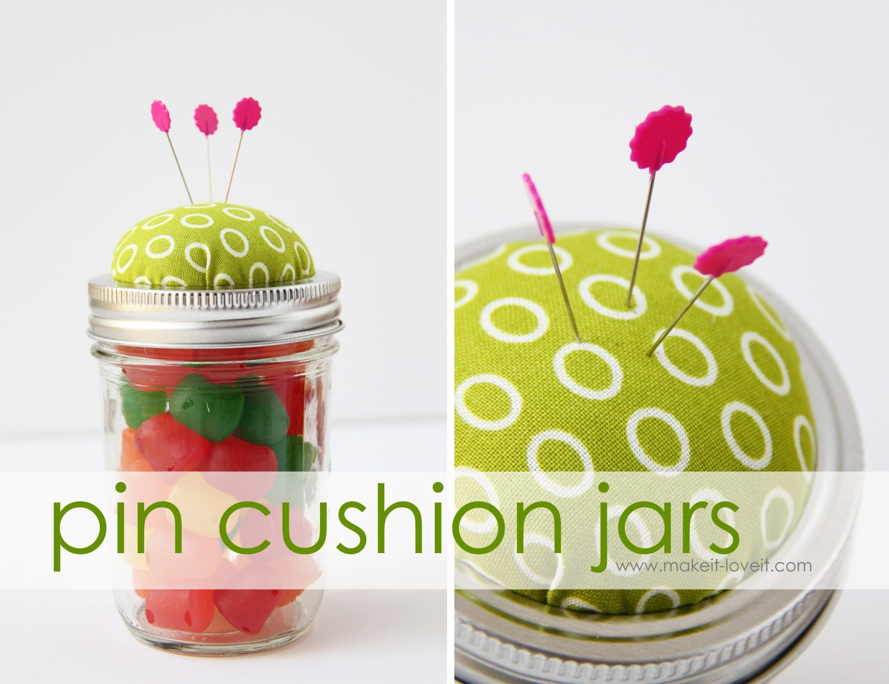 candy pin cushions