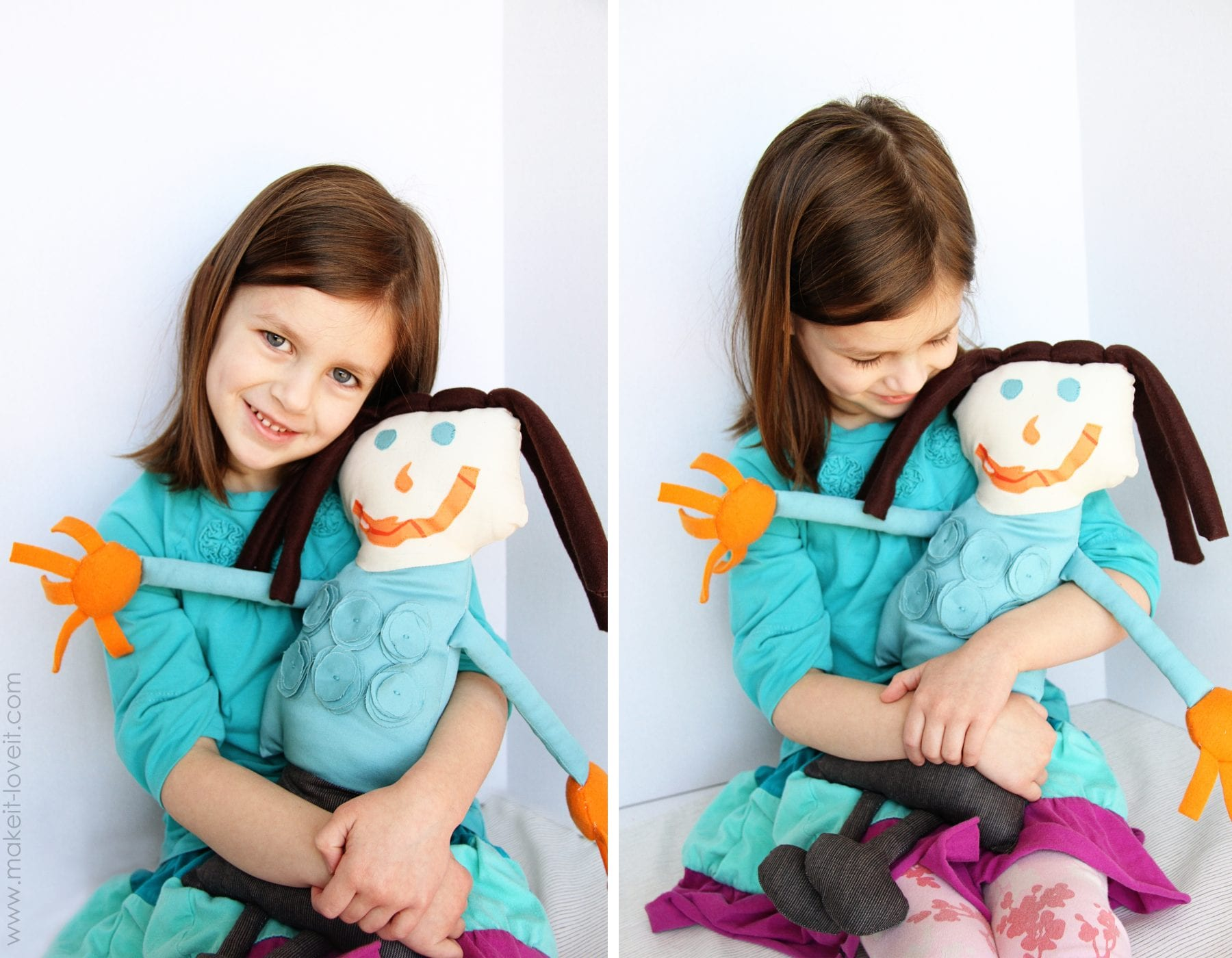 holding doll