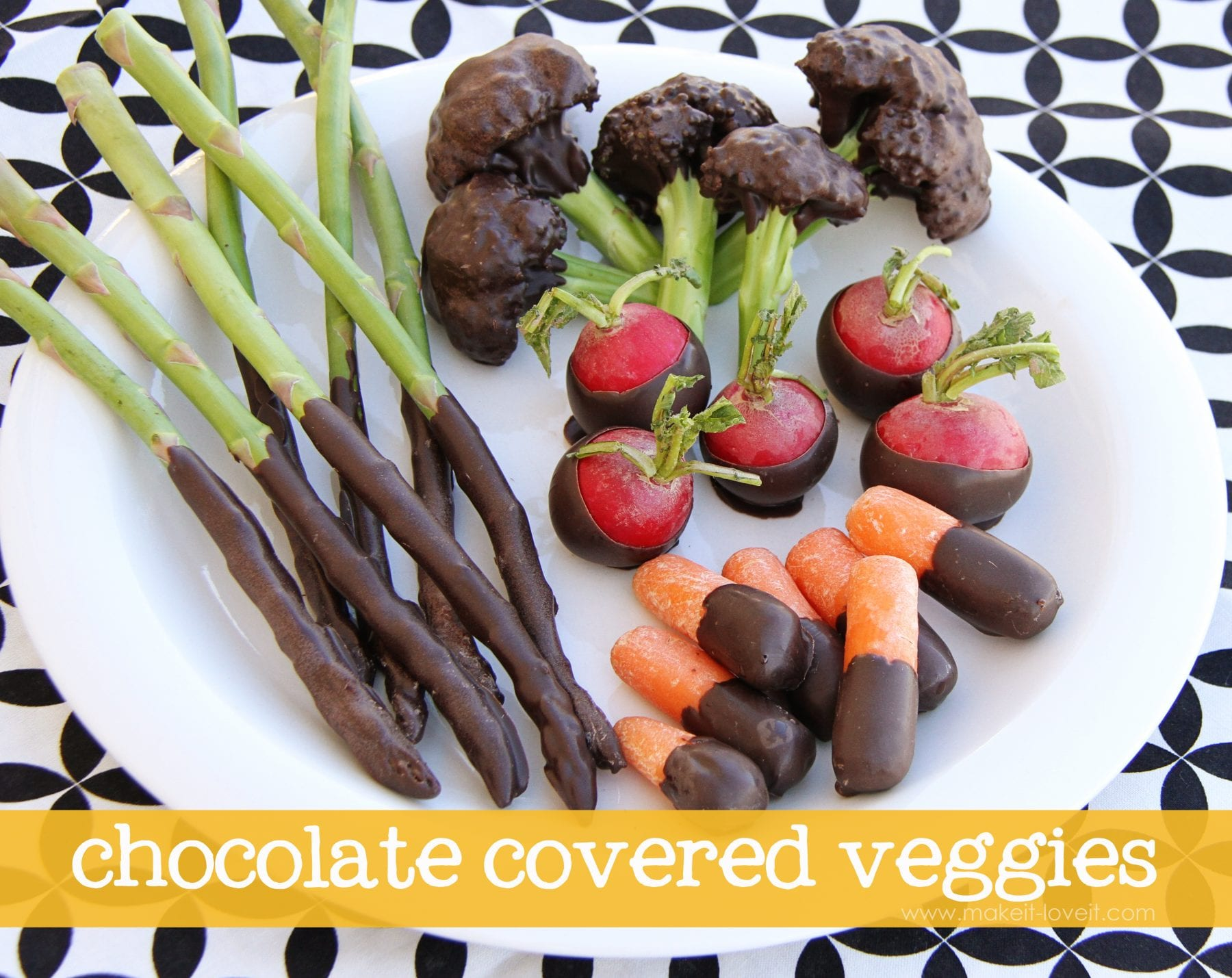 Chocolate Covered Veggies……(EDITED: April Fool's!!)