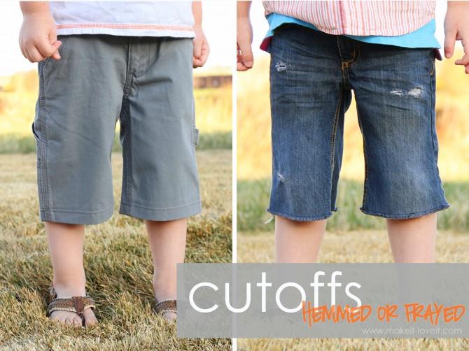 Turning Long Pants into Shorts (and making it look good) | Make It ...