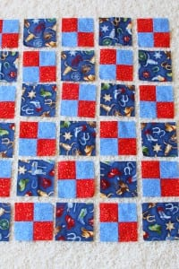 Downy Touch Of Comfort - Quilts for Kids (& making a FOUR-PATCH QUILT)