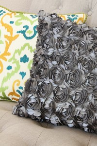 Decorative Satin Flower Pillow....MADE EASY