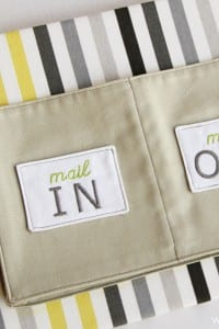 Fabric Mail Organizer (wall mounted)