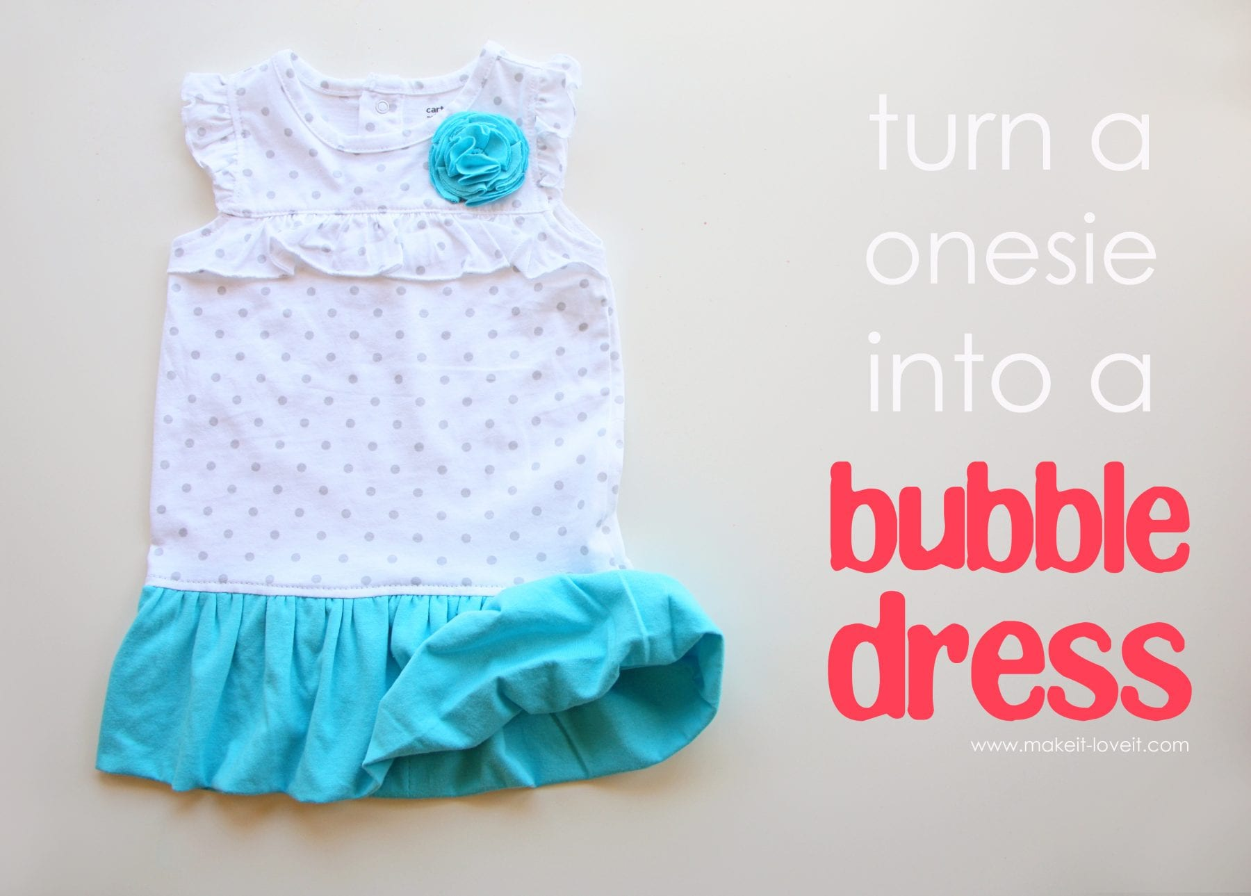 Turn a Onesie into a Bubble Dress