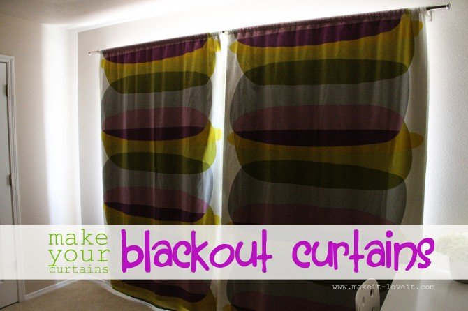nothing a piece of blackout lining added to my curtains but really effective
