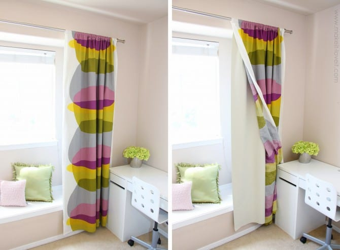 Blackout Curtain Diy How To Add Blackout Liner To Your