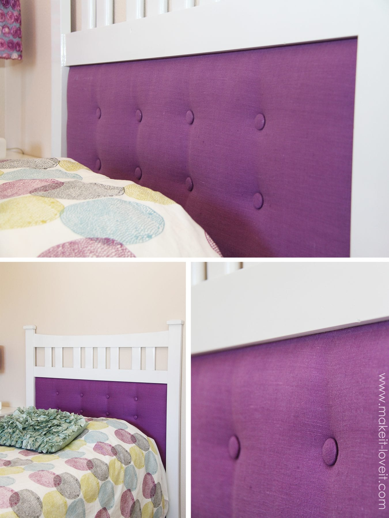 Design Purple Tufted Headboard framed tufted headboard made from dresser mirror make it and do
