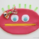 Zipper Mouth Pencil Case {girl version}