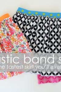 Elastic Band Skirt {aka: the fastest skirt you'll ever make}