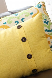 Fold-Over Button Pillow (home decor)