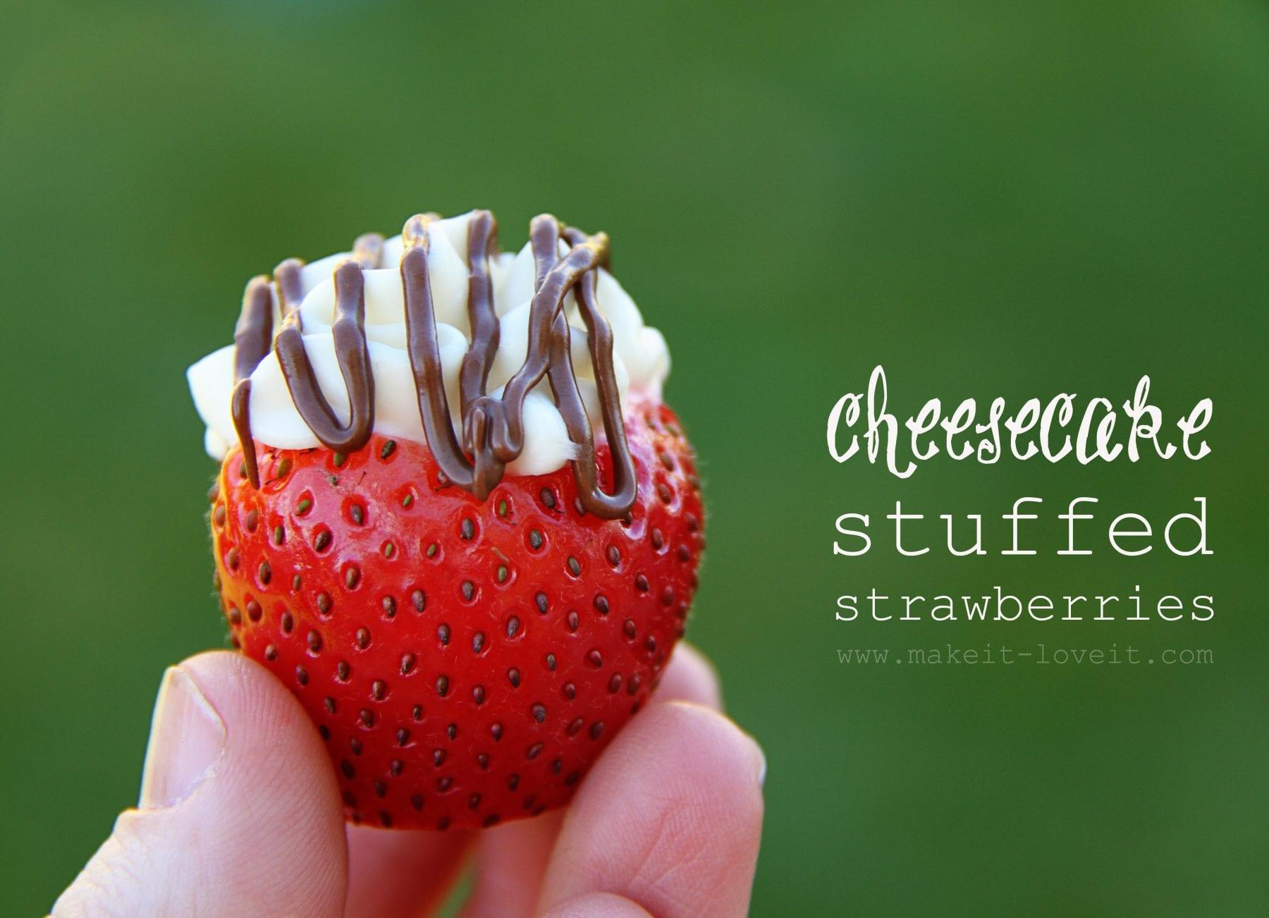 simple and speedy 'Cheesecake Stuffed Strawberries'