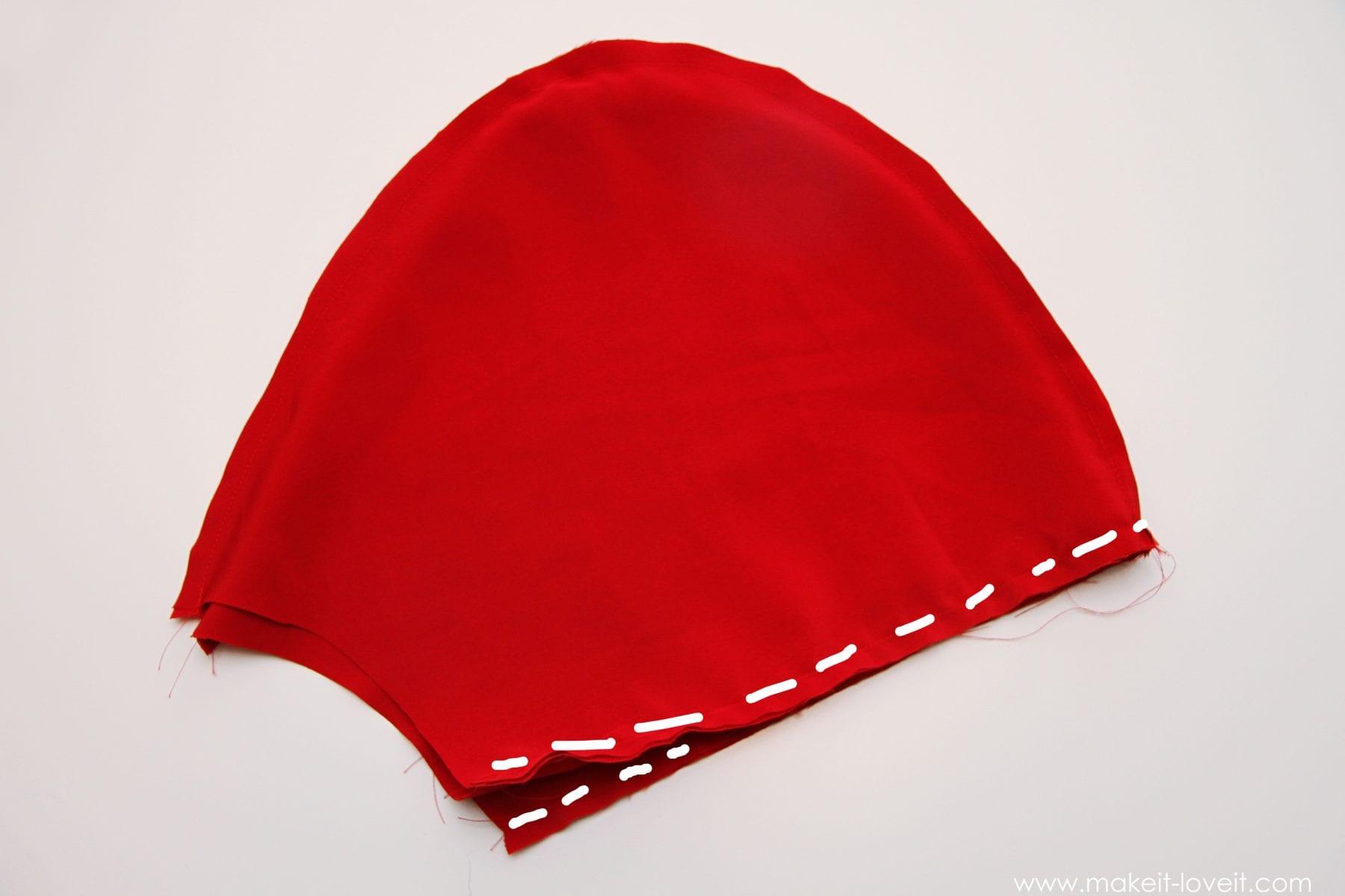 Сшить капюшон красной шапочки