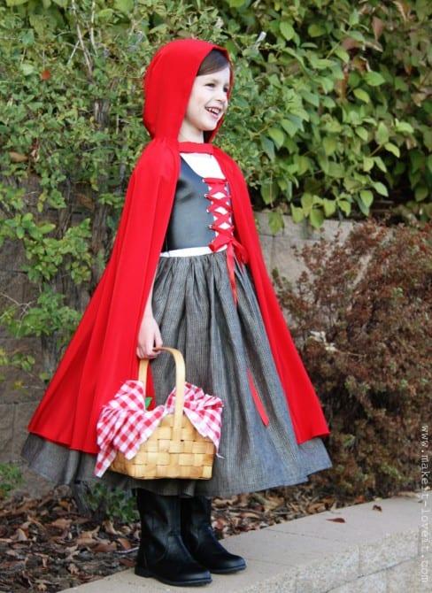 Patron robe petit chaperon rouge
