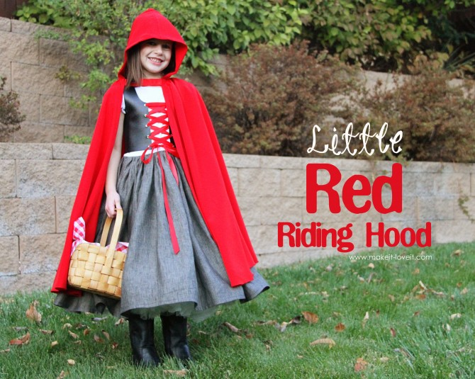 diy red riding hood costume