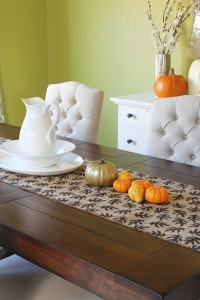 Fall Decor: Burlap Table Runner with Leaf Prints (Sew or No-Sew)